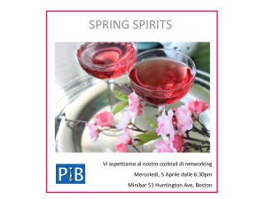 Networking event flyer at Minibar, April 5th