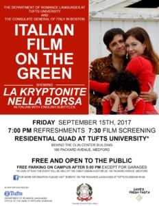 Italian film screening plus refreshments