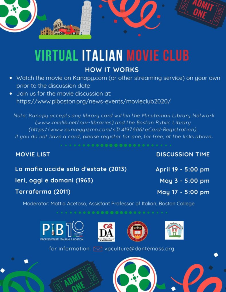 Virtual Movie Club 2020.