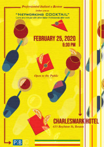 Cocktail Party at the Charlesmark Hotel in Boston, February 25th at 6:30 pm.