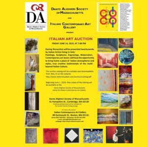 Italian Visual Art Auction June 14th at 7pm flyer.