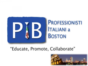 Professionisti Italiani a Boston 2015