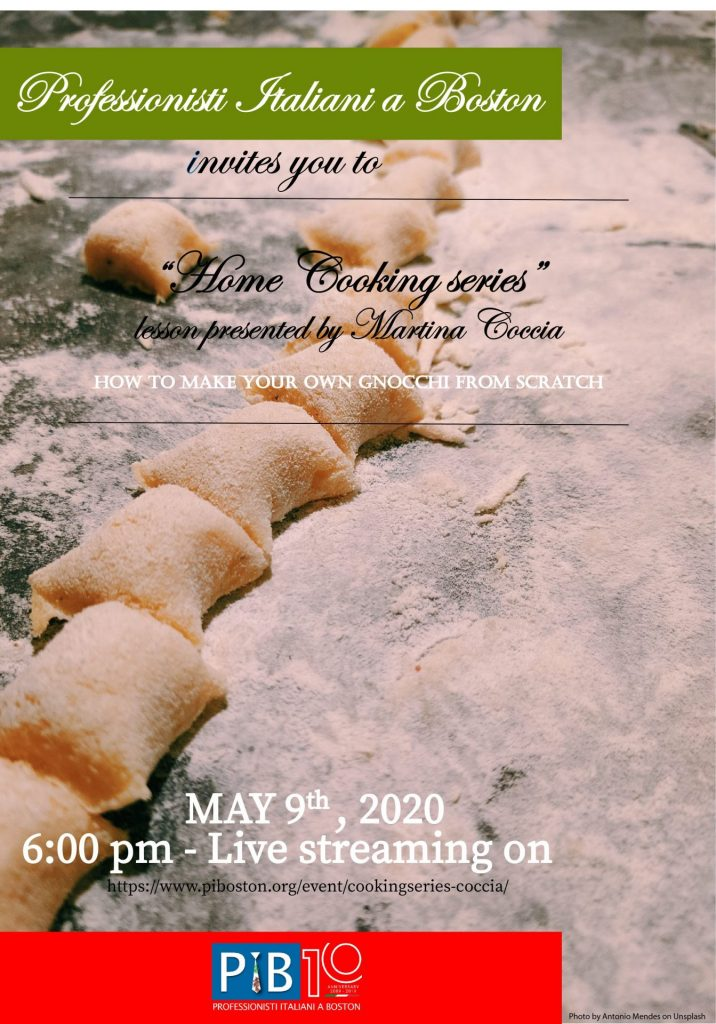 Martina Coccia presents a gnocchi-making cooking class on May 9th.