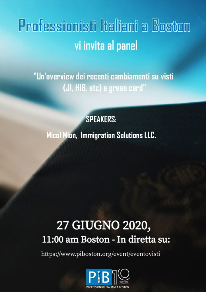 Immigration Visas flyer.